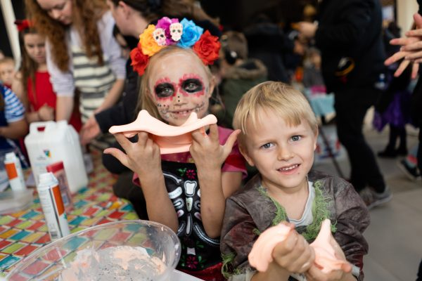 Thalia and Hudson Milward 7 and 5. Halloween at Festival Lesuire, Basildon.